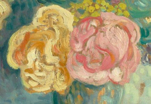 Bouquet de roses et de mimosas - Louis Valtat (1869-1952) -