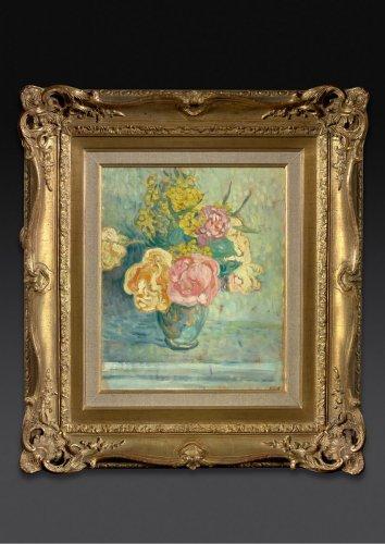 20th century - Bouquet de roses et de mimosas - Louis Valtat (1869-1952)