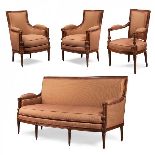 A mahogany Directoire salon suite