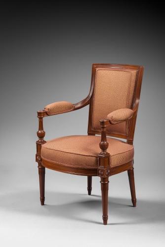 A mahogany Directoire salon suite -