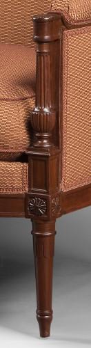 18th century - A mahogany Directoire salon suite