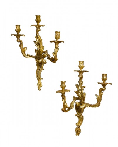 A pair of Louis XV  Wall lights
