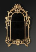 A Louis XV wood mirror