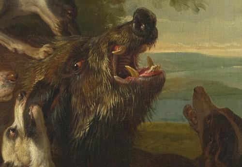 Alexandre-François Desportes (1661 –1743() - Hallali of wild boar - Paintings & Drawings Style Louis XIV