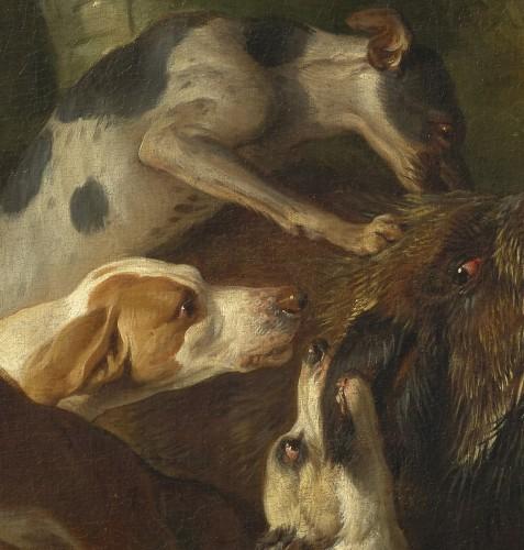 Alexandre-François Desportes (1661 –1743() - Hallali of wild boar -