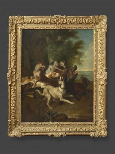 18th century - Alexandre-François Desportes (1661 –1743() - Hallali of wild boar