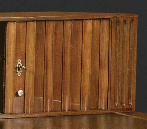 Furniture  - A Louis XVI Mahogany bureau plat and cartonnier