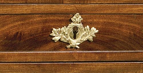 A Louis XVI Mahogany bureau plat and cartonnier -