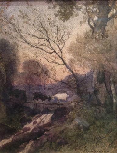 """Henri Joseph Harpignies - """"Les deux chèvres"""""""
