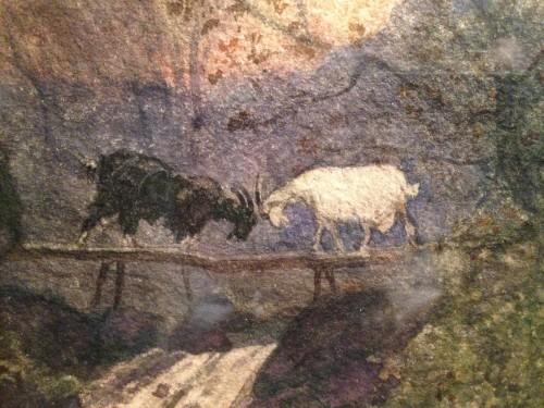 """Henri Joseph Harpignies - """"Les deux chèvres"""" -"""