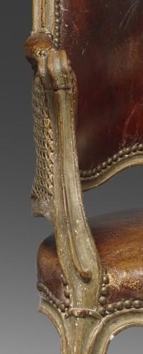 A Louis XV Fauteuil de bureau  -
