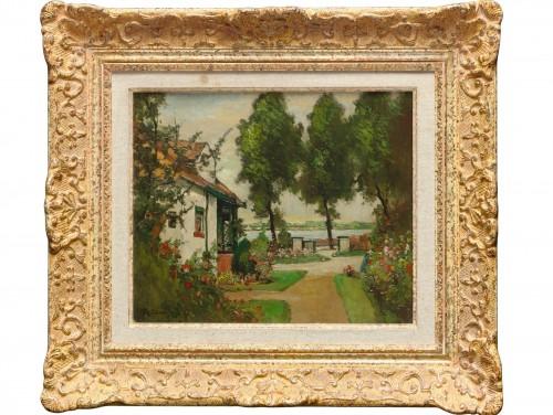 Max Unold ( 1885 - 1965) - Paysage devant la maison