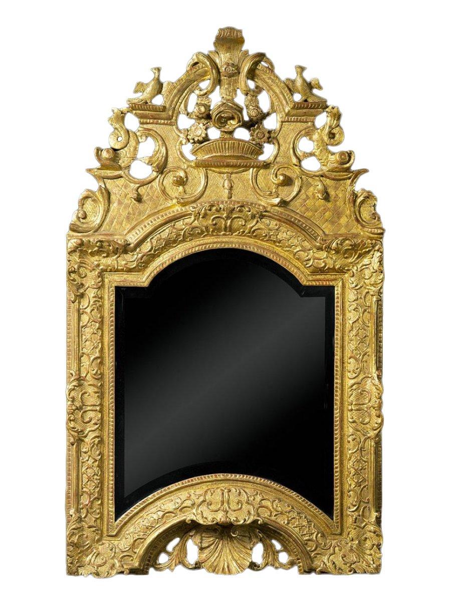 Miroir en bois sculpt et dor d 39 poque louis xiv xviiie for Miroir louis xiv