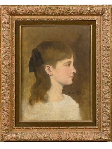 Charles Chaplin (1825-1891) - A young girl portrait