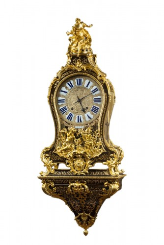 A French Regence Boulle marquetry bracket clock