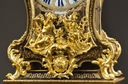 Horology  - A French Regence Boulle marquetry bracket clock