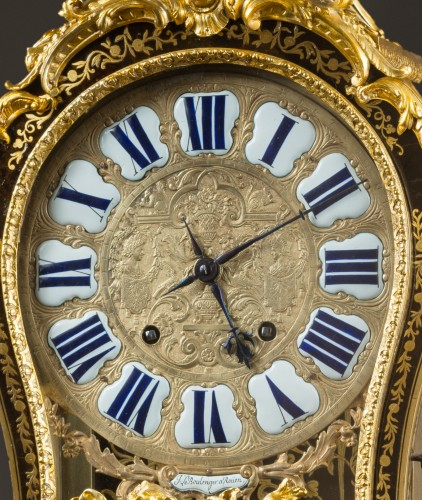 A French Regence Boulle marquetry bracket clock -
