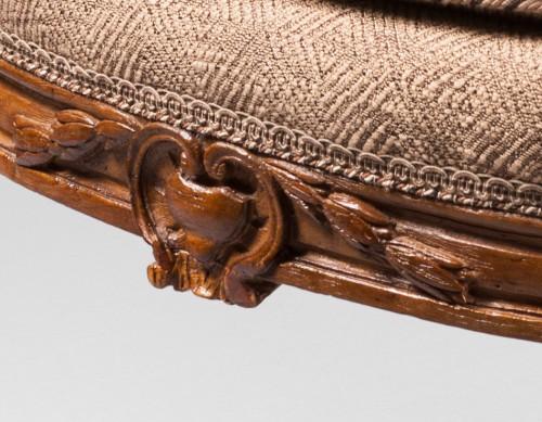 A rare set of ten dining room armchairs stamped J-B Boulard  -