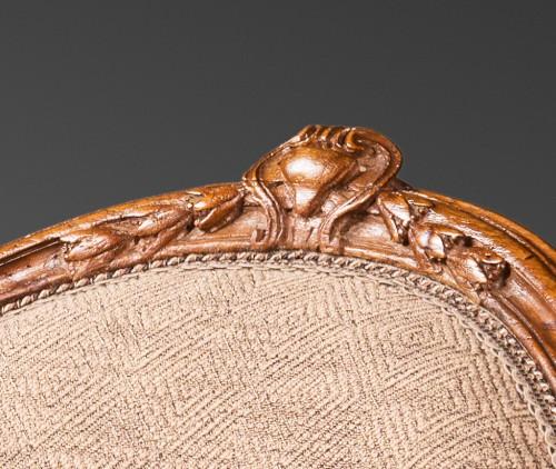 18th century - A rare set of ten dining room armchairs stamped J-B Boulard