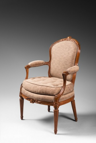 Transition - A rare set of ten dining room armchairs stamped J-B Boulard