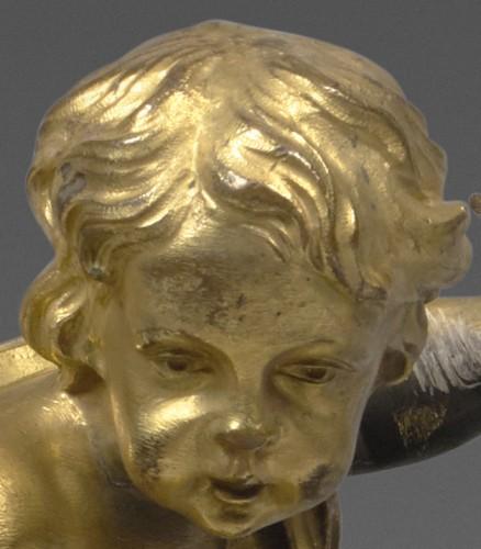 Louis XVI - A pair of Louis XVI ormolu Chenets
