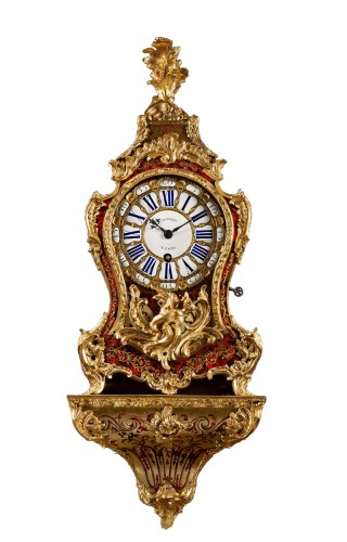 A Louis XV Boulle marquetry ormolu mounted bracket clock