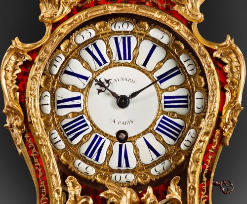 A Louis XV Boulle marquetry ormolu mounted bracket clock -
