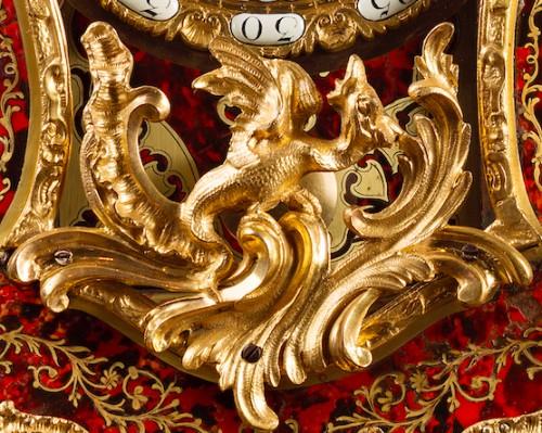 A Louis XV Boulle marquetry ormolu mounted bracket clock - Louis XV