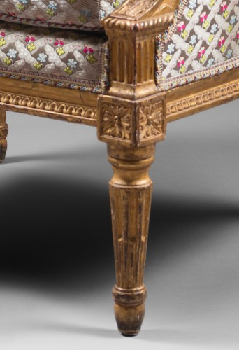 Seating  - A pair of Louis XVI giltwood bergeres Attributed to Jean-Baptiste Boulard