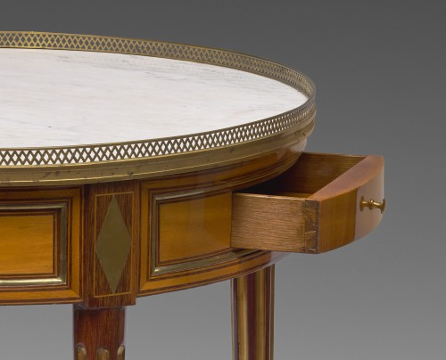A Louis XVI bouillotte table stamped Pafrat -
