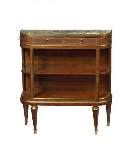 A French Tulip wood and satiné console desserte