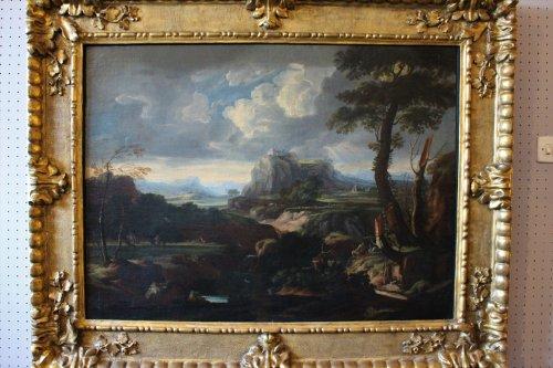 Jan frans van Bloemen (Anvers 1662- Rome 1749) attributed to - Paintings & Drawings Style