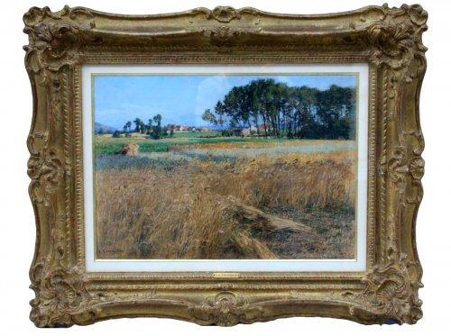 Léon Augustin Lhermitte (1844-1925) -  wheat field next Mézy