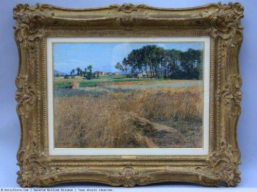 Léon Augustin Lhermitte (1844-1925) -  wheat field next Mézy -