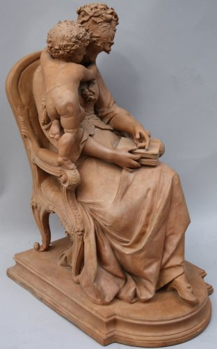 Terracotta sculpture by Lucas Madrassi - Decorative Objects Style Directoire