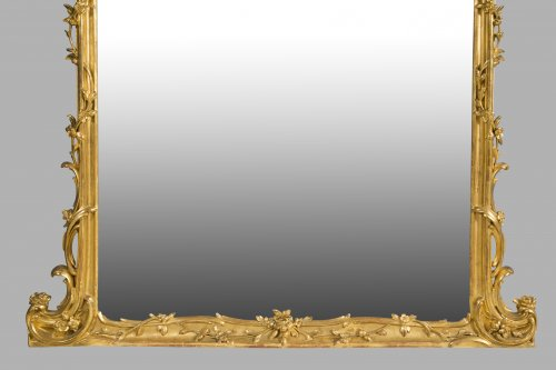 Pair of large wooden-framed mirrors dating from the second half of the 19th century - Napoléon III