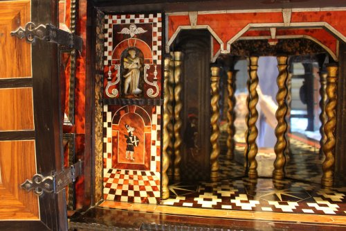 Cabinet from Antwerp in tortoiseshell scales circa 1650 -