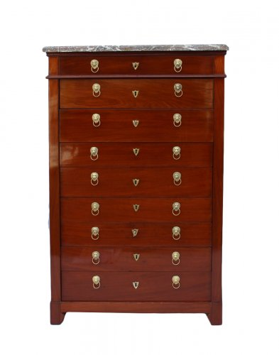Mahogany chiffonnier by Canabas, dating back to the Louis XVI