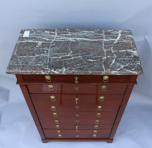 Mahogany chiffonnier by Canabas, dating back to the Louis XVI  -