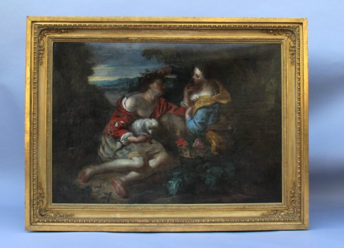 Galant scene, French School from the 18th - Louis XV