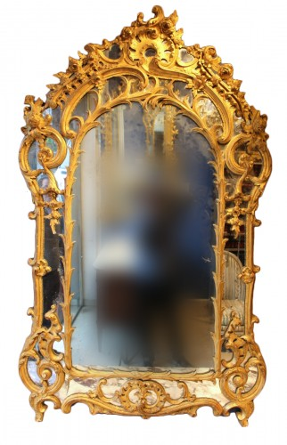 Giltwood Mirror of Regence period