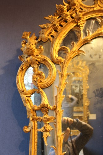 Mirrors, Trumeau  - Giltwood Mirror of Regence period