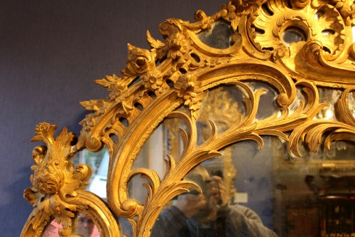 18th century - Giltwood Mirror of Regence period