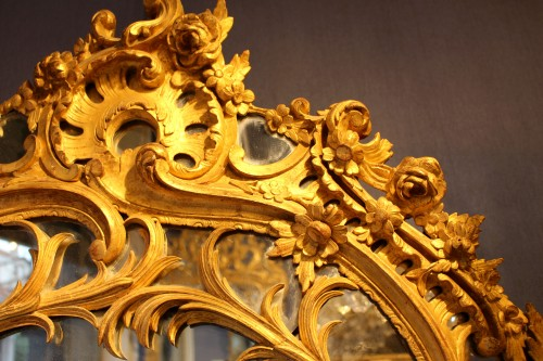 Giltwood Mirror of Regence period - French Regence