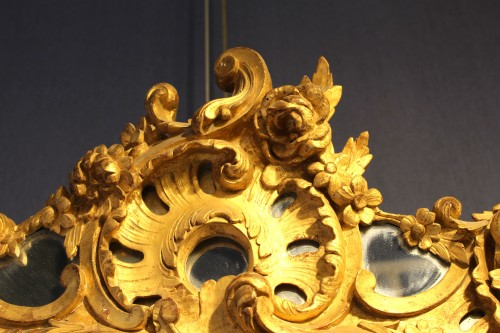 French Regence - Giltwood Mirror of Regence period