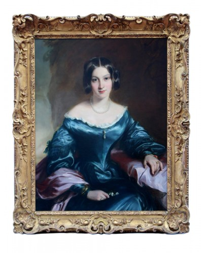 Portrait de lady Eleanor FitzRoy - Attribué à Sir Francis Grant