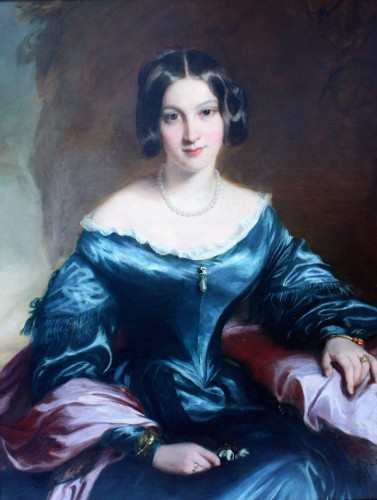 Portrait de lady Eleanor FitzRoy - Attribué à Sir Francis Grant - Galerie William Diximus