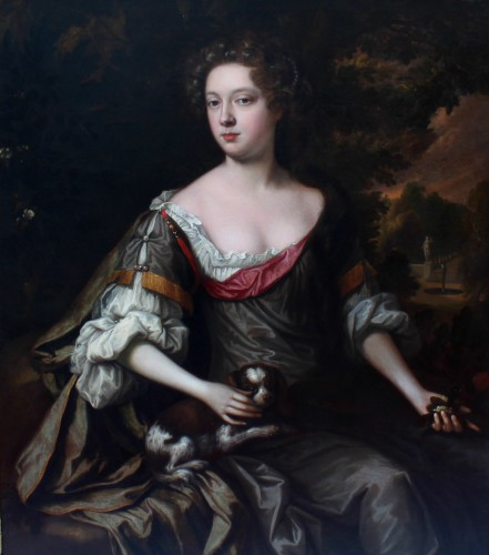 Portrait of an elegant Englishwoman from the second half of 17th century