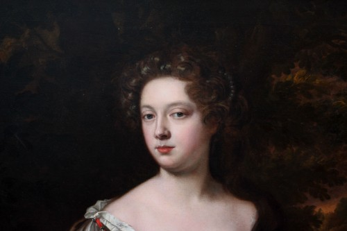 Portrait of an elegant Englishwoman from the second half of 17th century - Louis XIII