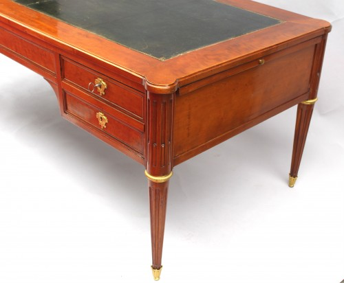 Large Bureau flat Louis XVI Mahogany Speckled - Furniture Style Louis XVI